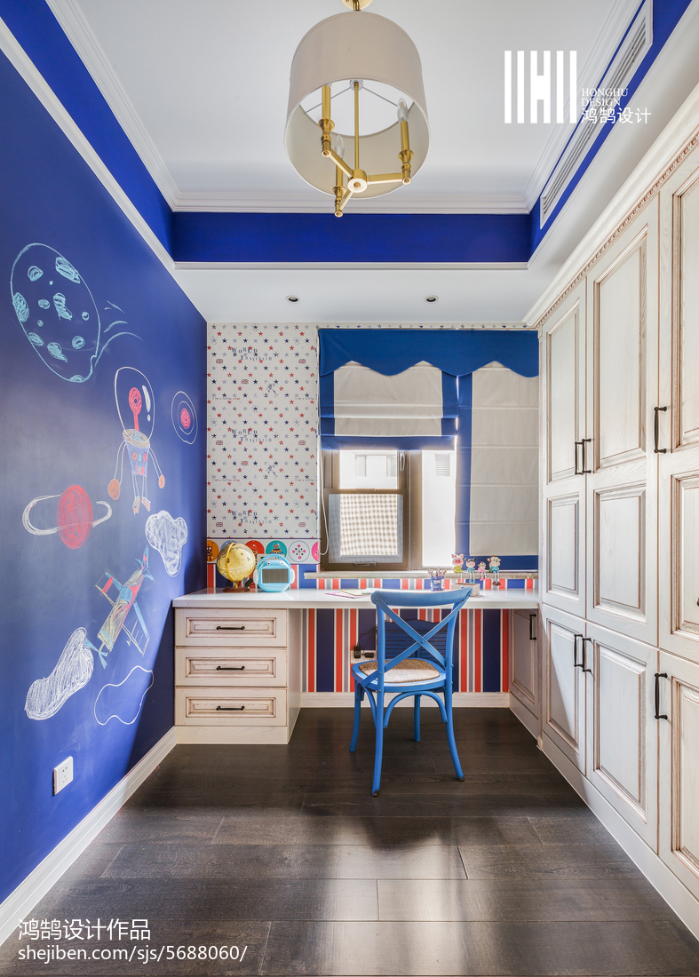精选三居儿童房美式装修效果图片欣赏卧室衣柜美式经典卧室设计图片赏析