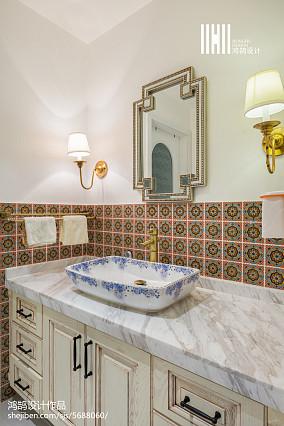 2018面积93平美式三居卫生间欣赏图卫生间美式经典设计图片赏析