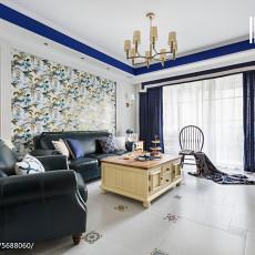 2018103平米三居客厅美式装修效果图片