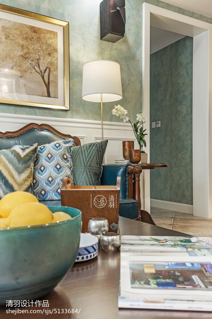 精选面积100平美式三居客厅装修欣赏图客厅美式经典客厅设计图片赏析
