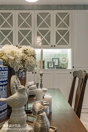 精美面积104平美式三居餐厅装饰图片欣赏