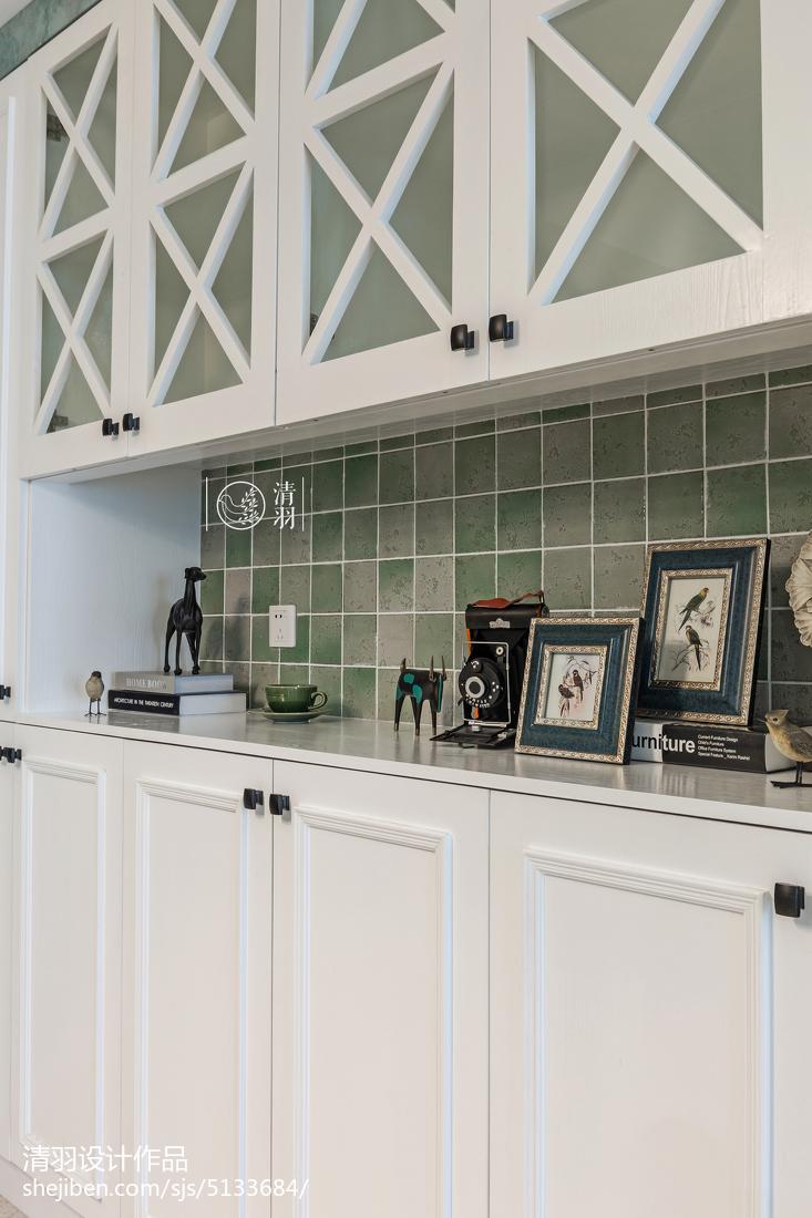 精选面积97平美式三居餐厅效果图片餐厅美式经典厨房设计图片赏析