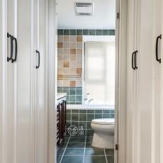 2018美式三居卫生间实景图片