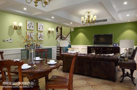 平美式三居餐厅美图厨房2图