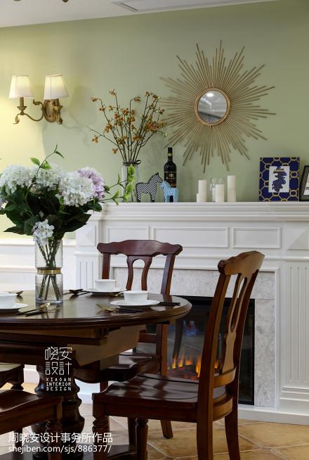 简洁155平美式三居餐厅效果图欣赏厨房3图