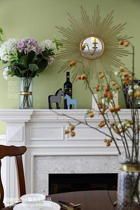 简洁110平美式三居餐厅装修设计图厨房1图美式经典设计图片赏析