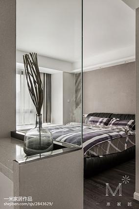 热门面积101平现代三居卧室装修图片欣赏三居现代简约家装装修案例效果图