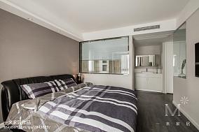 精美98平米三居卧室现代装修设计效果图片欣赏三居现代简约家装装修案例效果图