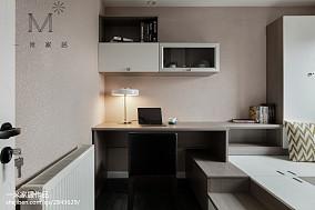 热门108平方三居书房现代实景图家装装修案例效果图