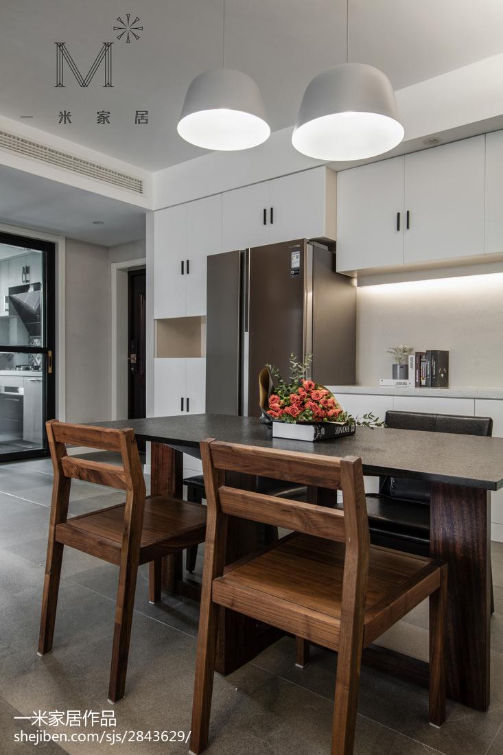 优美143平现代三居美图三居现代简约家装装修案例效果图