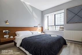 精美面积90平简约二居卧室装修实景图