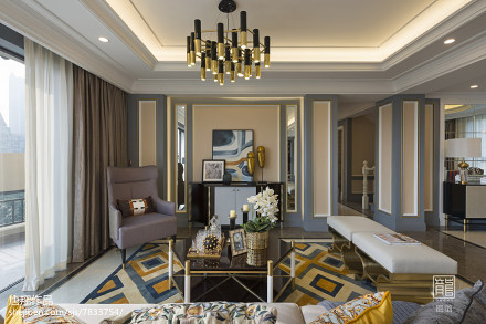 样板房客厅装修案例样板间现代简约家装装修案例效果图