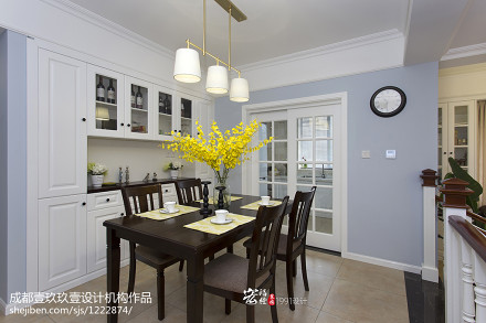 华丽141平美式四居餐厅效果图欣赏厨房