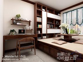 日式风格80平一居室装修效果图