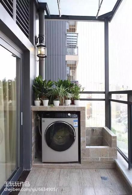 2018面积70平现代二居阳台设计效果图阳台