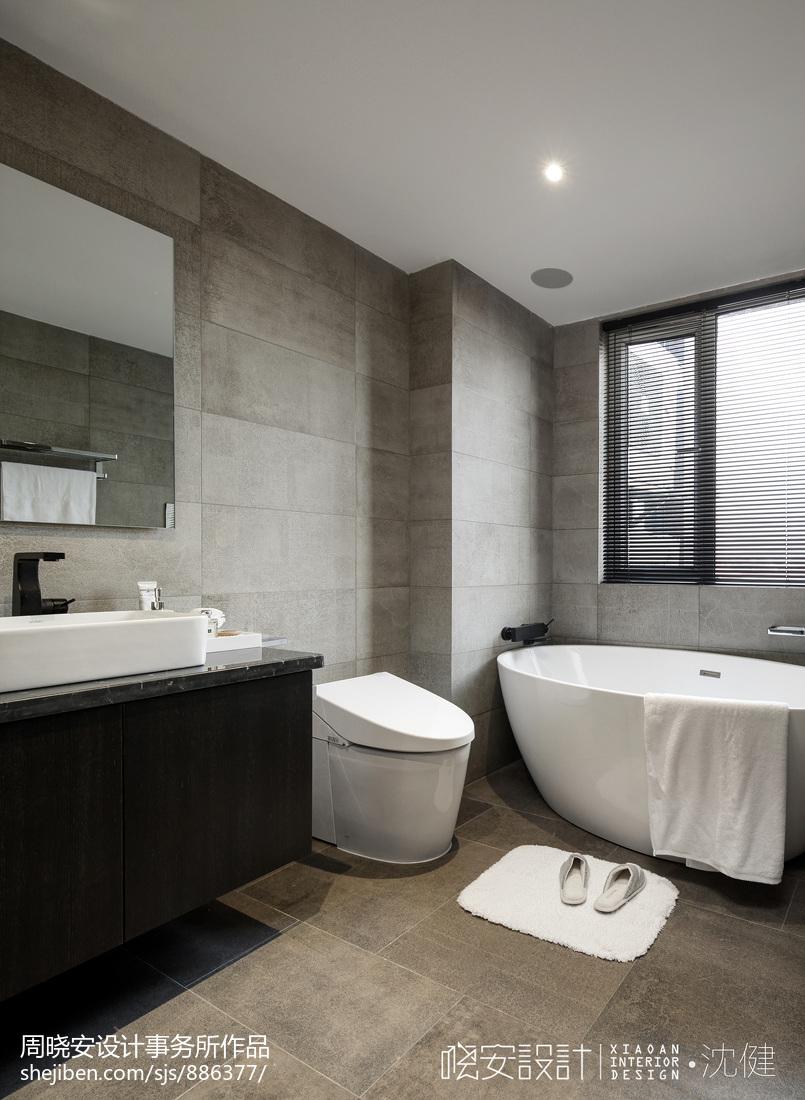 现代卫浴浴缸卫生间现代简约卫生间设计图片赏析