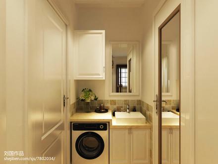 大气89平现代二居卫生间装饰图