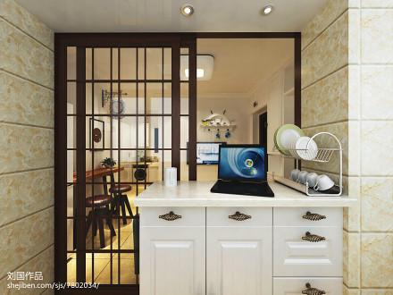 华丽56平现代二居厨房装修图