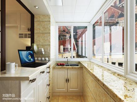 优美53平现代二居厨房实景图
