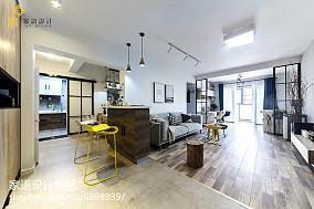 精美面积104平北欧三居客厅装修实景图片大全