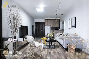 精美面积92平北欧三居客厅效果图片大全