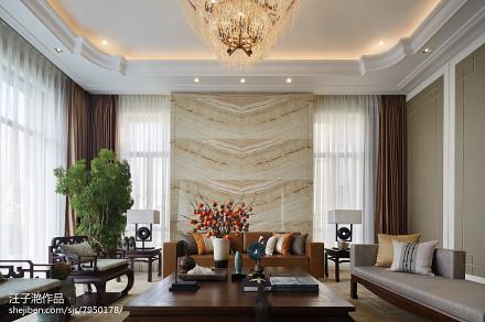 精选面积122平别墅客厅混搭装修效果图片大全