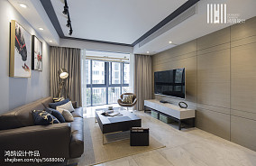 精致85平现代三居装修设计图三居现代简约家装装修案例效果图
