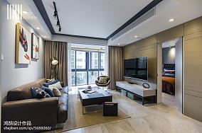 温馨110平现代三居设计案例三居现代简约家装装修案例效果图