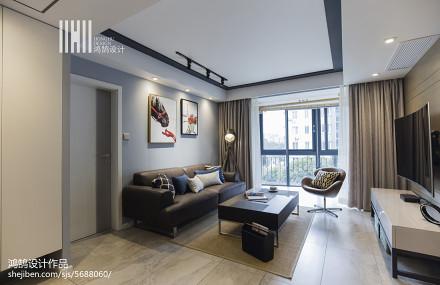 明亮125平现代三居图片欣赏三居现代简约家装装修案例效果图