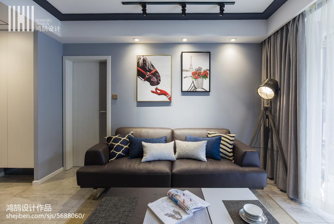 精美面积94平现代三居客厅装修效果图片大全客厅