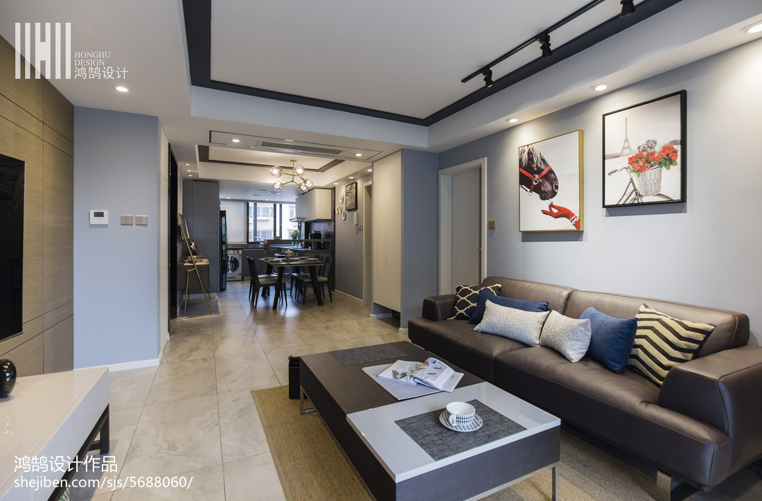 2018精选93平米三居客厅现代装修欣赏图片大全客厅2图