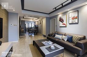 2018精选93平米三居客厅现代装修欣赏图片大全三居现代简约家装装修案例效果图