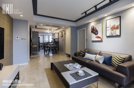 2018精选93平米三居客厅现代装修欣赏图片大全