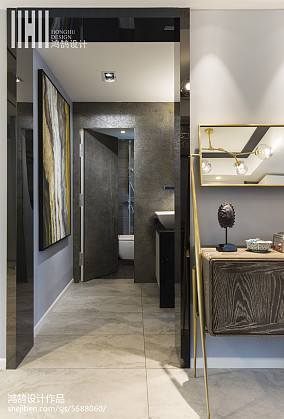 精美88平现代三居餐厅设计案例三居现代简约家装装修案例效果图