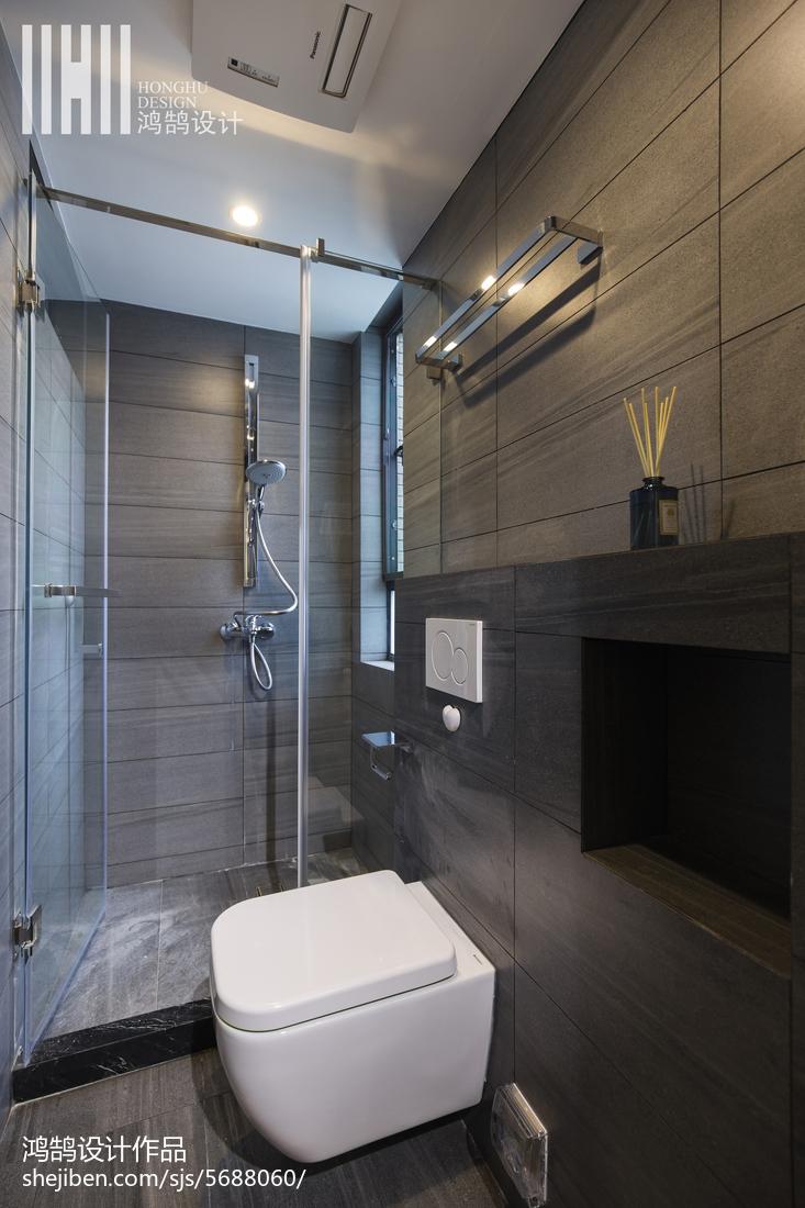 简洁大气淋浴房卫生间现代简约卫生间设计图片赏析