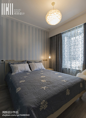 精致92平现代三居卧室效果图三居现代简约家装装修案例效果图