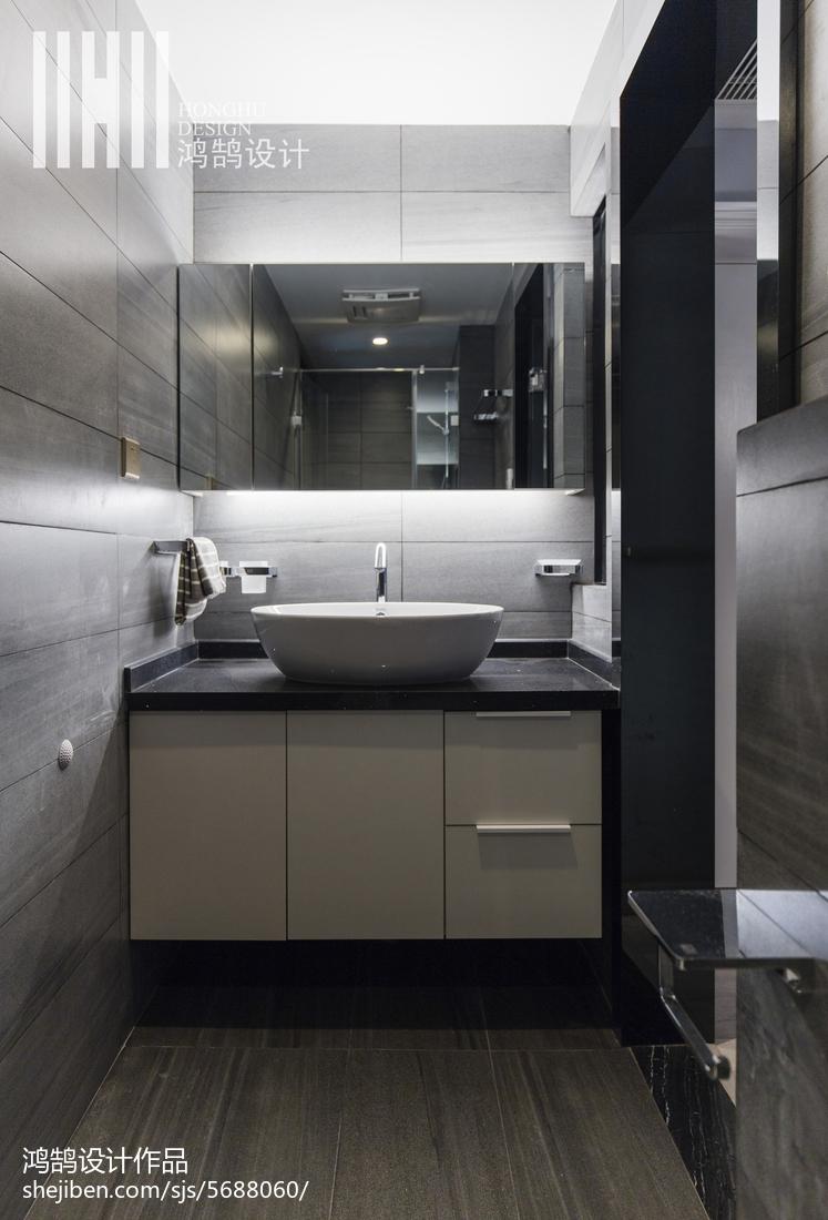 悠雅74平现代三居卫生间效果图餐厅现代简约厨房设计图片赏析