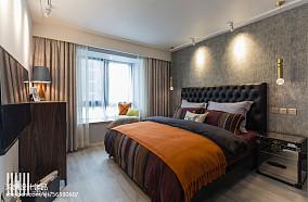 精致99平现代三居卧室布置图三居现代简约家装装修案例效果图