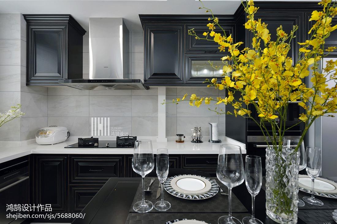 悠雅98平现代三居厨房装修案例餐厅现代简约厨房设计图片赏析
