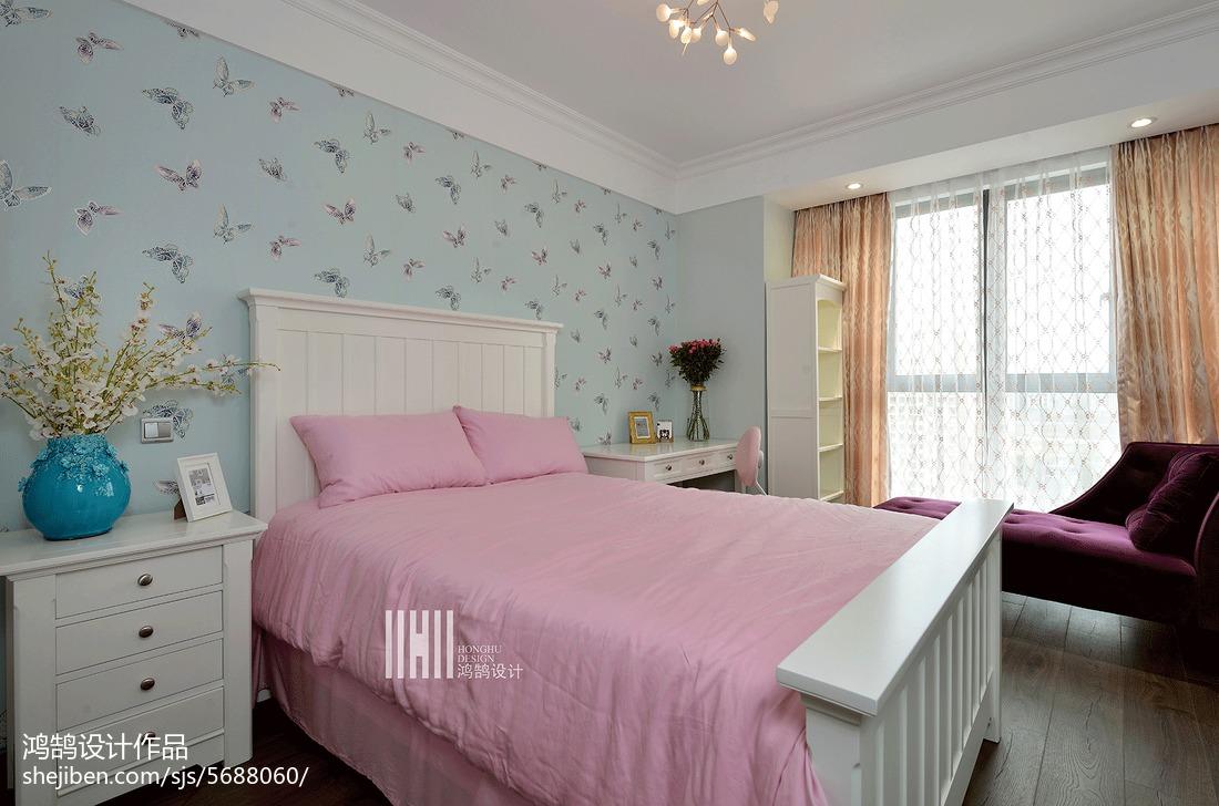 精美面积95平现代三居卧室效果图卧室窗帘现代简约卧室设计图片赏析