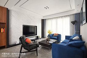 108平米三居客厅简约装修设计效果图片