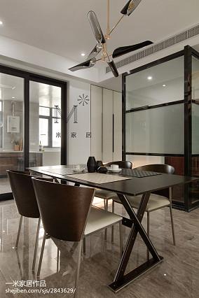 精选123平米现代复式餐厅装修实景图片