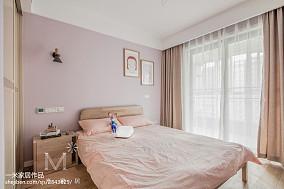 2018精选日式三居卧室装饰图片欣赏121-150m²三居日式家装装修案例效果图