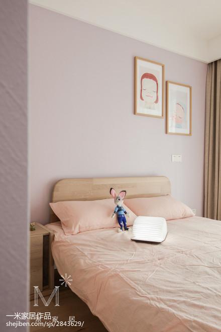 2018精选109平米三居卧室日式实景图