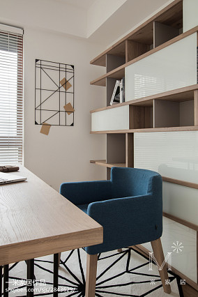 2018精选面积90平日式三居书房装修设计效果图片大全121-150m²三居日式家装装修案例效果图