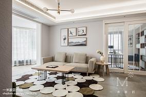 精选面积101平日式三居客厅实景图片大全121-150m²三居日式家装装修案例效果图