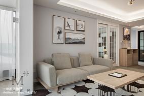 2018精选日式三居客厅欣赏图片大全121-150m²三居日式家装装修案例效果图