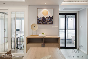 2018精选三居餐厅日式装修效果图121-150m²三居日式家装装修案例效果图