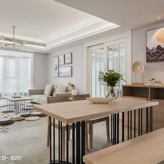 优美99平日式三居餐厅装修案例