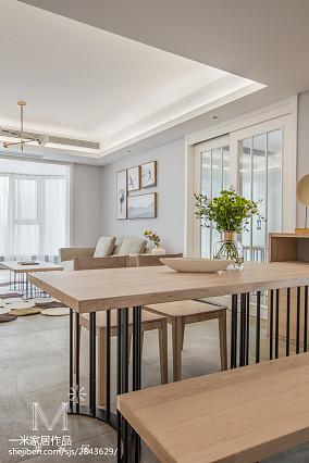 精选面积102平日式三居餐厅装饰图121-150m²三居日式家装装修案例效果图